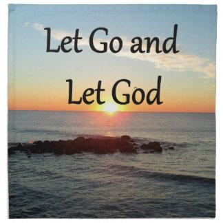 LET GO AND LET GOD SUNRISE PHOTO NAPKIN