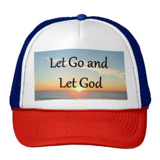 LET GO AND LET GOD SUNRISE PHOTO TRUCKER HAT