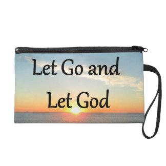 LET GO AND LET GOD SUNRISE PHOTO WRISTLET PURSE