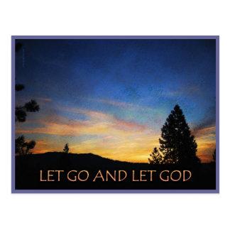 Let Go and Let God Sunrise Post Card