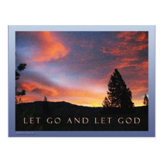 Let Go and Let God Sunrise Post Cards