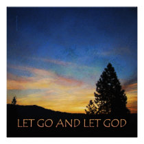 Let Go and Let God Sunrise Poster