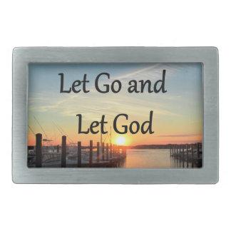 LET GO AND LET GOD SUNSET BELT BUCKLE