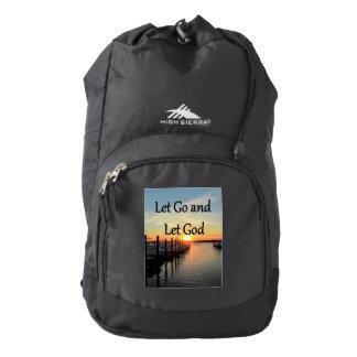 LET GO AND LET GOD SUNSET HIGH SIERRA BACKPACK