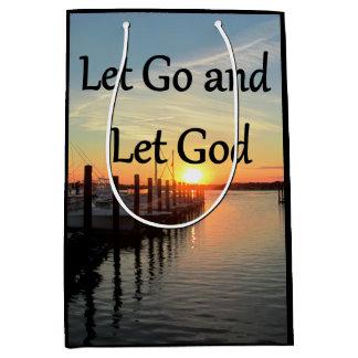 LET GO AND LET GOD SUNSET MEDIUM GIFT BAG