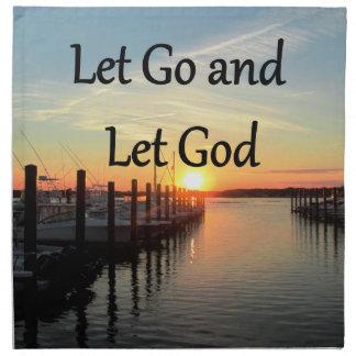 LET GO AND LET GOD SUNSET NAPKIN