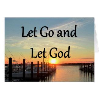 LET GO AND LET GOD SUNSET PHOTO CARD