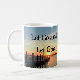 LET GO AND LET GOD SUNSET PHOTO COFFEE MUG