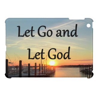 LET GO AND LET GOD SUNSET PHOTO iPad MINI CASE
