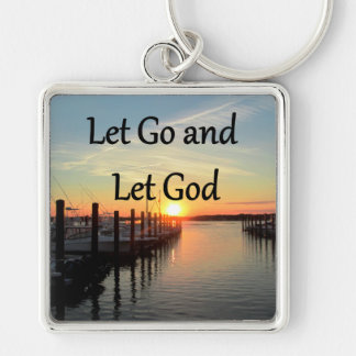 LET GO AND LET GOD SUNSET PHOTO KEYCHAIN