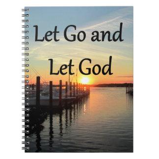 LET GO AND LET GOD SUNSET PHOTO SPIRAL NOTEBOOK