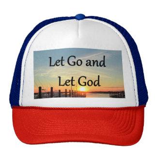 LET GO AND LET GOD SUNSET PHOTO TRUCKER HAT