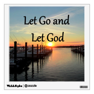 LET GO AND LET GOD SUNSET PHOTO WALL STICKER