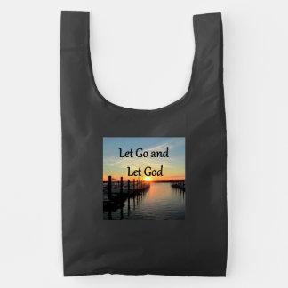 LET GO AND LET GOD SUNSET REUSABLE BAG