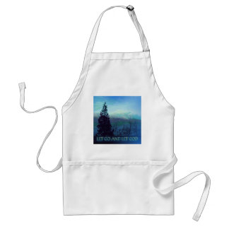 Let Go and Let God Tree and Hills Adult Apron