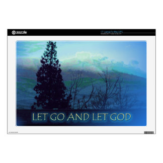 Let Go and Let God Tree and Hills Decals For Laptops