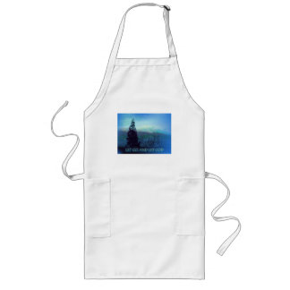 Let Go and Let God Tree and Hills Long Apron