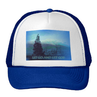 Let Go and Let God Tree and Hills Trucker Hat