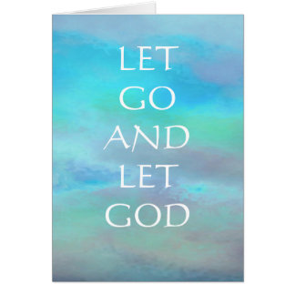 Let Go And Let God Turquoise Blue Sky Card