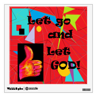 Let Go and Let God Wall Sticker