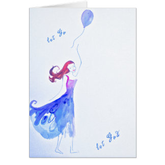 Let Go and Let God Watercolor Card