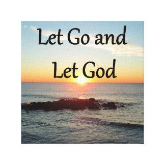 LET GO AND LET GONE SUNRISE DESIGN CANVAS PRINT
