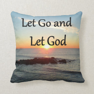 LET GO AND LET GONE SUNRISE DESIGN THROW PILLOW