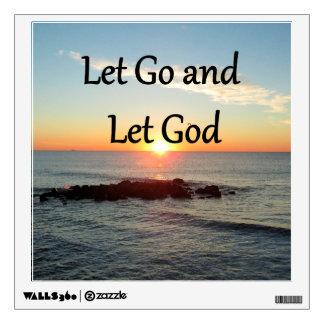LET GO AND LET GONE SUNRISE DESIGN WALL STICKER