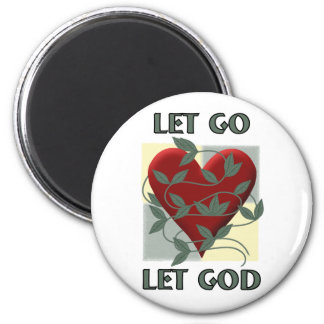 Let Go Let God 2 Inch Round Magnet