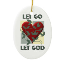 Let Go Let God 2 sides design Ceramic Ornament