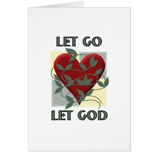 Let Go Let God Card