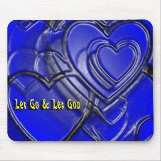 Let go let God hearts Mouse Pads