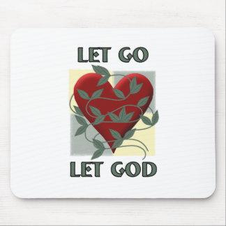 Let Go Let God Mouse Pads