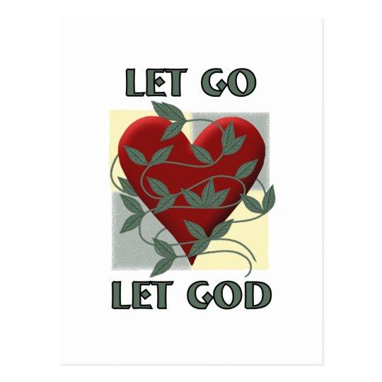 Let Go Let God Postcard