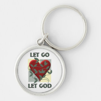 Let Go Let God Silver-Colored Round Keychain