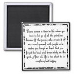 Let go of drama 2 inch square magnet