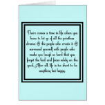 Let go of drama greeting card
