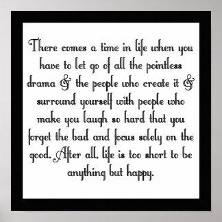 Let go of drama print