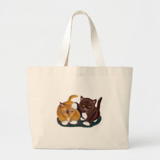 Let Go of my Ear Growls Kitten Jumbo Tote Bag