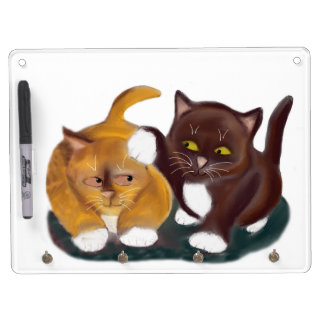 Let Go of my Ear Growls Kitten Dry Erase Board With Keychain Holder
