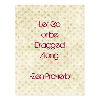 Let Go Quote Postcard