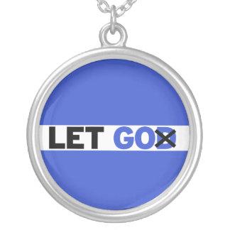 Let GO Round Pendant Necklace