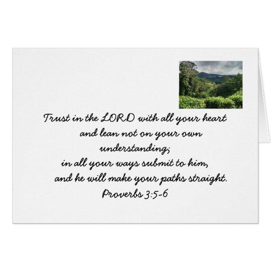 Let go. Trust God. Bible verse card. Card