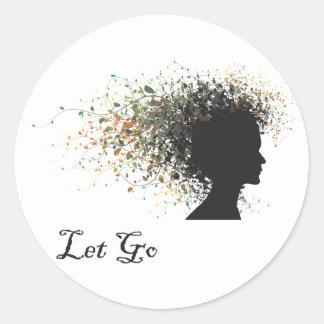 Let Go Yoga Sticker