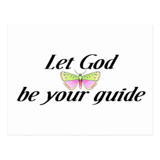 Let God be your guide Postcard
