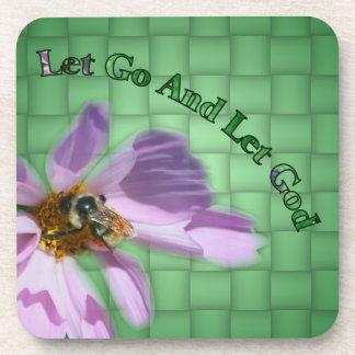Let God Floral Inspirational Coaster Set