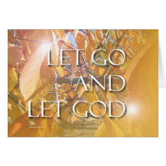 Let God Golden Leaves Card