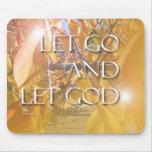 LET GOD Golden Leaves Mouse Pad