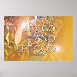 Let God Golden Leaves Poster