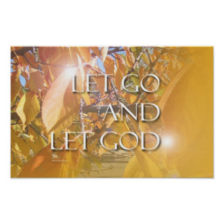 Let God Golden Leaves Poster